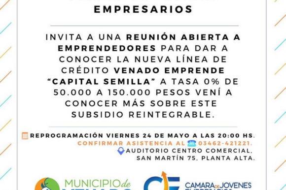 "Reunión informativa sobre ""Venado Emprende- Capital Semilla"""