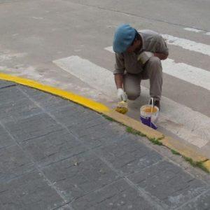 Autorización para pintar cordones e ingreso garajes