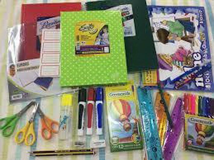 Compra de útiles escolares
