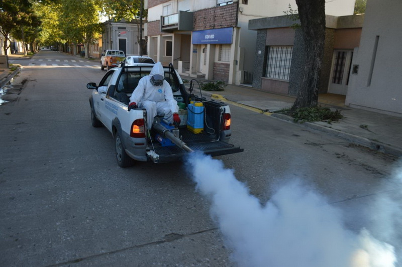 El municipio desplegó operativo para disminuir plagas de mosquitos y prevenir dengue