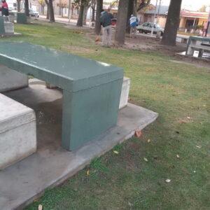 Trabajos en el Parque Municipal General Belgrano