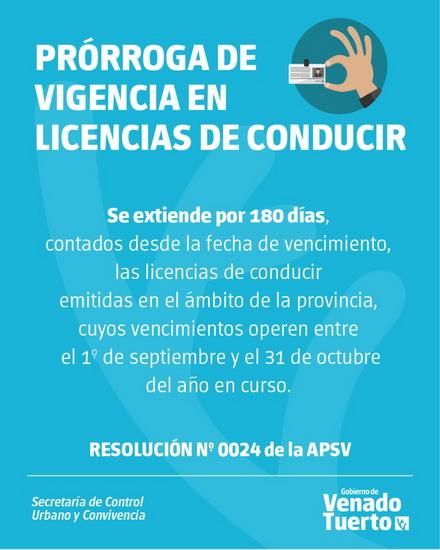 Extienden prórroga en la vigencia de licencias de conducir