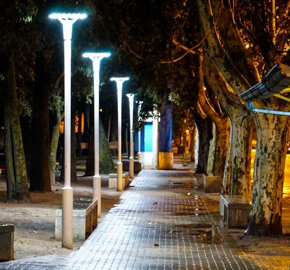 El gobierno local impulsa acciones para avanzar con la instalación de luces led en el Parque Municipal