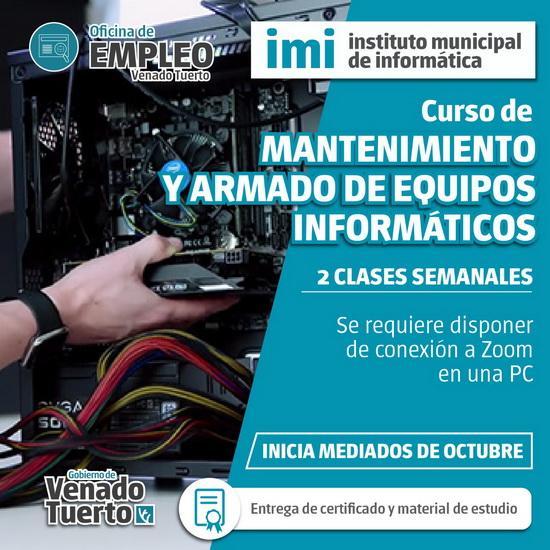 La Oficina de Empleo y el IMI organizan un curso de mantenimiento y armado de equipos informáticos