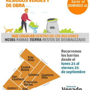 Recolección de residuos verdes y de obra