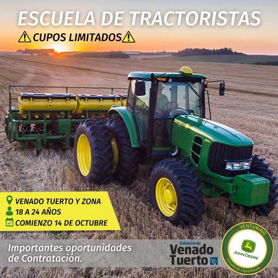 La Oficina de Empleo Municipal y Concesionaria Venturino lanzan el curso de formación de tractorista