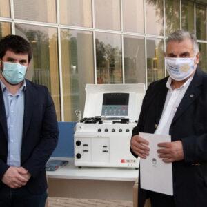 Chiarella: «estamos orgullosos de este esfuerzo conjunto logrado con Rotary Club y la comunidad, que le permite a Venado Tuerto tener su máquina para extraer plasma»