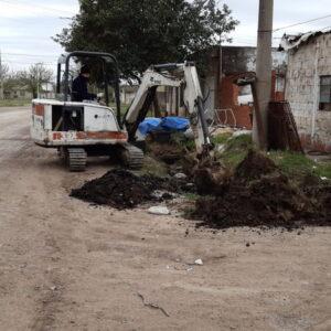 Cuadrillas de la Secretaría de Obras y Servicios Públicos refuerzan sus tareas en la ciudad