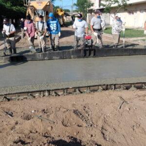 El municipio venadense avanza con el hormigonado y arreglo de calles