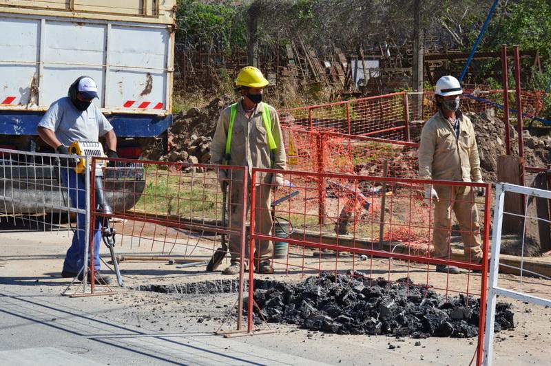 El gobierno municipal avanza a paso firme con la obra que llevará el gas a vecinos del barrio santa rosa