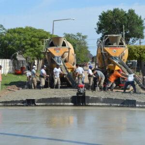 El gobierno de Venado Tuerto lleva el pavimento a una calle más del barrio ciudad nueva