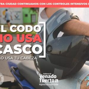 Con una nueva campaña y más controles en la ciudad el gobierno municipal refuerza el uso del casco