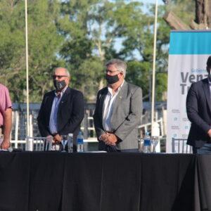 Chiarella y Berrueta encabezaron en el predio ruralista el acto inaugural de Expovenado Digital 20.20
