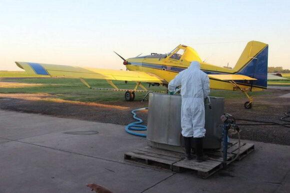 Nueva aplicación aérea de la campaña de control de mosquitos