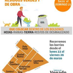 Recolección de Residuos Verdes y de Obra: Domingo 21 de marzo
