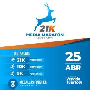 Para celebrar el 137º aniversario de Venado Tuerto se realizará una media maratón en la ciudad