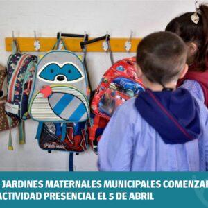Los Jardines Maternales municipales comenzarán la actividad presencial el 5 de abril
