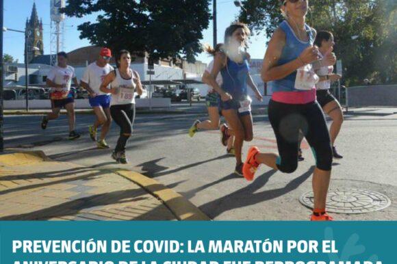 Prevención de covid: La Maratón por el Aniversario de la ciudad fue reprogramada