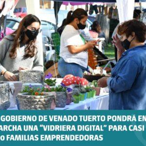 """El Gobierno de Venado Tuerto pondrá en marcha una """"Vidriera digital"""" para casi 300 familias emprendedoras"""