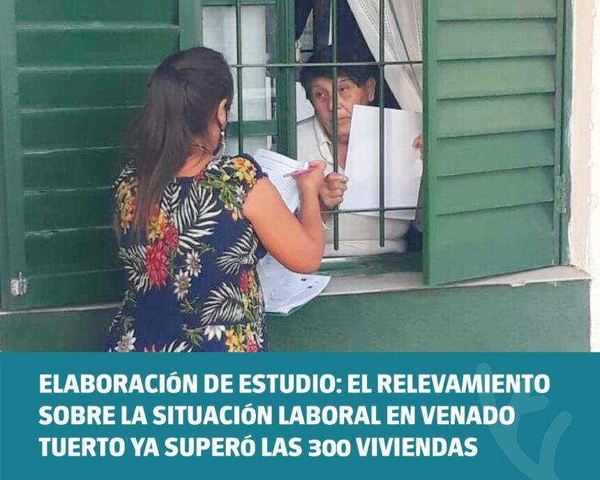 Elaboración de estudio: el relevamiento sobre la situación laboral en Venado Tuerto ya superó las 300 viviendas