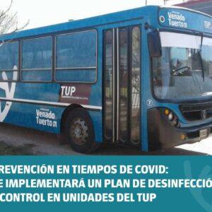 Prevención en tiempos de COVID: se implementará un plan de desinfección y control en unidades del TUP