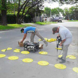 El Municipio incorpora nuevos reductores de velocidad para mayor seguridad vial