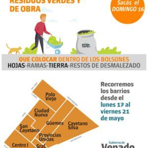 Recolección de Residuos Verdes y de Obra- Domingo 16 de mayo