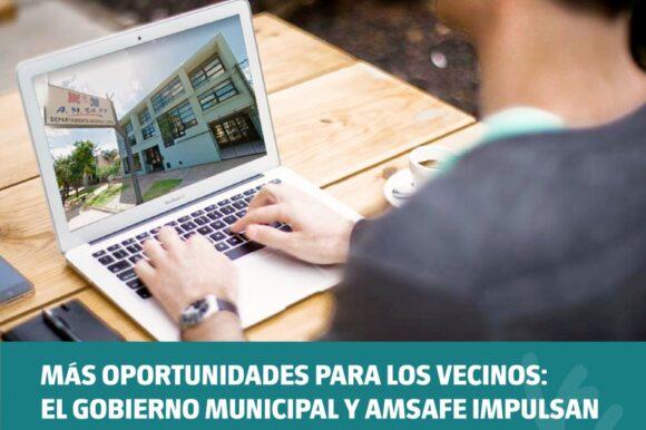 Más oportunidades para los vecinos: el Gobierno municipal y Amsafe impulsan un Centro de Formación Laboral