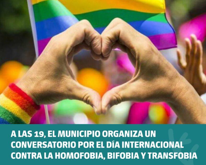 El Municipio organiza un conversatorio por el Día Internacional contra la Homofobia, Bifobia y Transfobia