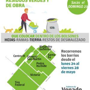 Recolección de Restos Verdes y de Obra- Domingo 23 de mayo