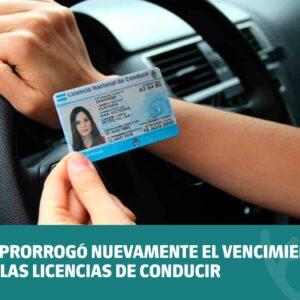 Se prorrogó nuevamente el vencimiento de las licencias de conducir