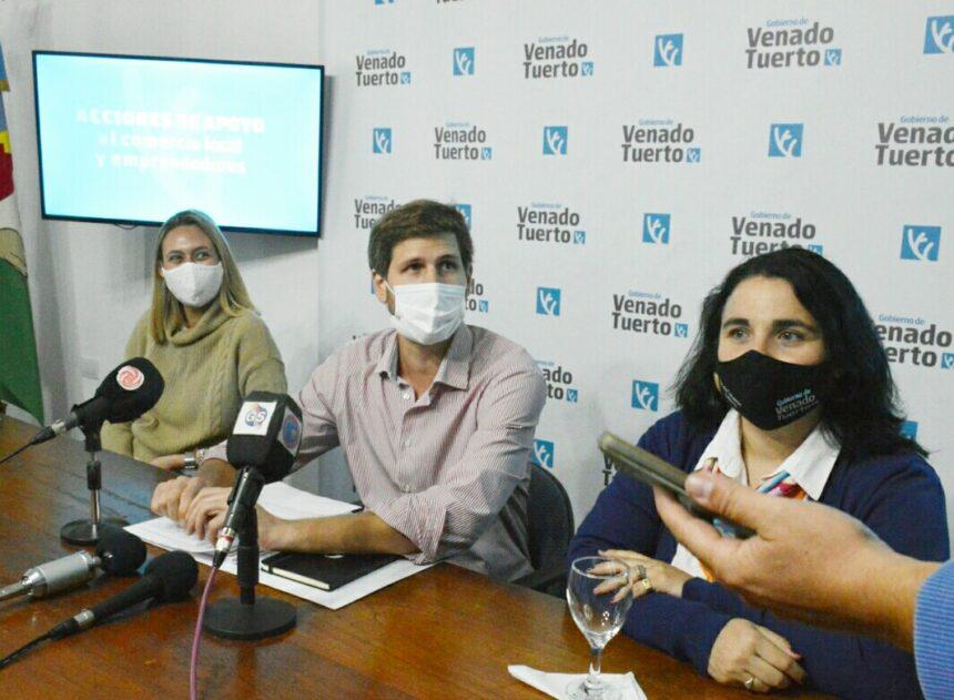 El Gobierno de Venado Tuerto lanzó medidas de apoyo al comercio local y emprendedores