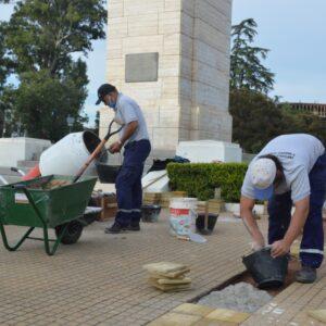 Más trabajos en los espacios de todos: avanzan las mejoras en plaza San Martín
