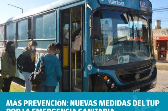 Más prevención: nuevas medidas del TUP por la emergencia sanitaria