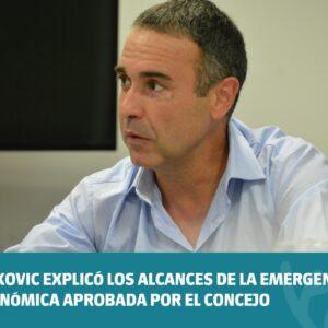 Viskovic explicó los alcances de la emergencia económica aprobada por el Concejo