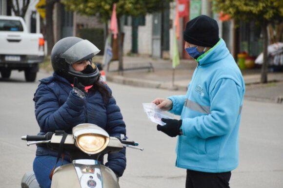 Con acciones de control y orden: aumentó el uso del casco en motos en Venado Tuerto