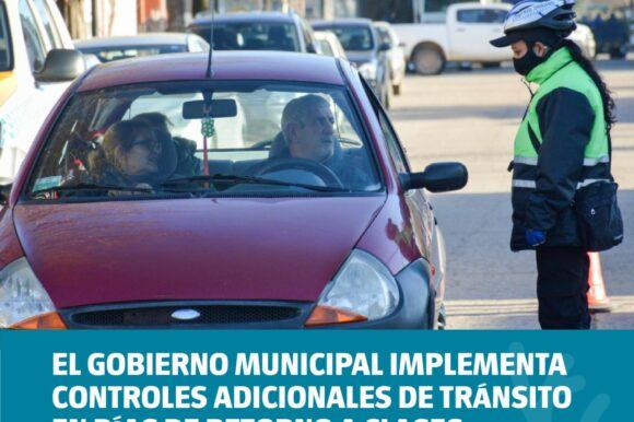 El Gobierno Municipal implementa controles adicionales de tránsito en días de retorno a clases