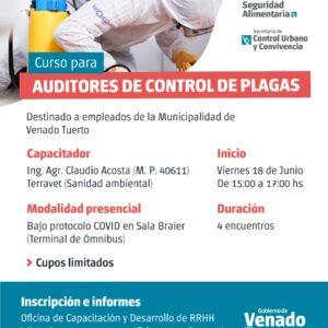 El Municipio capacitará a los Auditores de Control de Plagas
