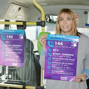 Campaña contra la violencia de género y difusión del 144 como número de asistencia