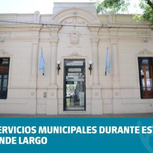 Servicios municipales durante este fin de semana largo