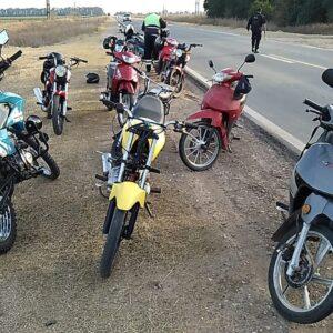 En un operativo conjunto del Municipio y Fuerzas de Seguridad se secuestraron motos utilizadas para correr picadas en el camino a San Eduardo