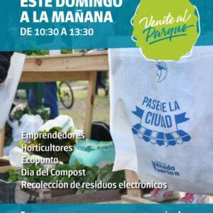 Domingo con mucha actividad en Venite al Parque: Paseo de la Ciudad y recolección de residuos electrónicos