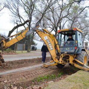 El Gobierno Municipal encaró un fuerte trabajo de reparación de calles en distintos barrios