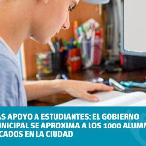 Más apoyo a estudiantes: el Gobierno Municipal se aproxima a los mil alumnos becados en la ciudad