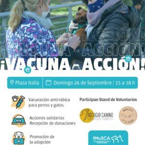 """Salud Animal: Jornada de """"Vacuna-Acción"""" en plaza Italia"""
