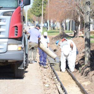 El Gobierno Municipal avanza con la construcción de cordón cuneta en el barrio Ciudad Nueva