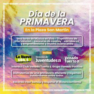 """""""Septiembre Joven"""" recibe la primavera en plaza San Martín en un marco de cuidado y responsabilidad"""