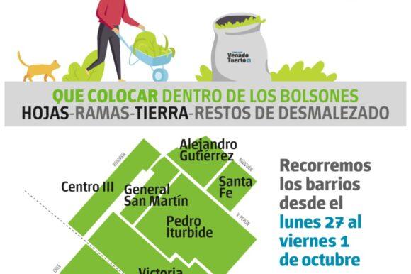 Recolección de Restos Verdes y de Obra- Domingo 26 de septiembre