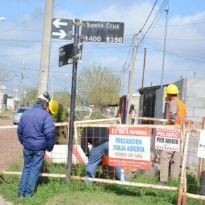 El Municipio inició los trabajos de extensión de redes de gas en barrios Santa Fe e Iturbide