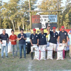 Chiarella entregó premios en el Torneo de Pato de Sociedad Rural